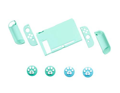 Nintendo Switch スイッチ ケース 分体式 カバー 薄型 Joy-Con用 ニンテンドースイッチ カバー 指紋防止 キズ防止 全面保護 ニンテンド ケース 親指キャップ*4 (色 : グリーン, サイズ : セット)