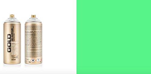 MONTANA GOLD 400ML - Fluoreszierendes Neon Spray (weiß, gelb, pink, grün, orange, rot und blau) (Grün)