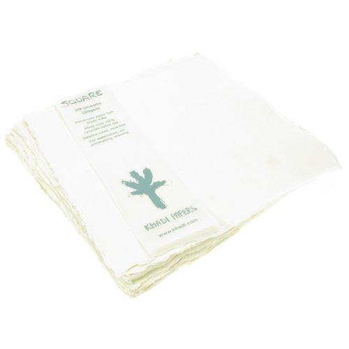 Khadi Handmade 100% Rag Watercolour Paper 320gsm : Rough : 20 sheets pack 20x20cm