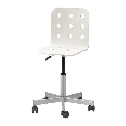 Ikea Jules Schreibtischstuhl für Kinder; in weiß/silberfarben; höhenverstellbar
