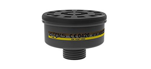 Gefahrstoff Gasfilter A2B2E2 (EN 14387) gegen Gase und Dämpfe von organischen Verbindungen, Siedepunkt > 65 °C, Anorganische Gase und Dämpfe, z. B. Chlor, Schwefelwasserstoff, Blausäure
