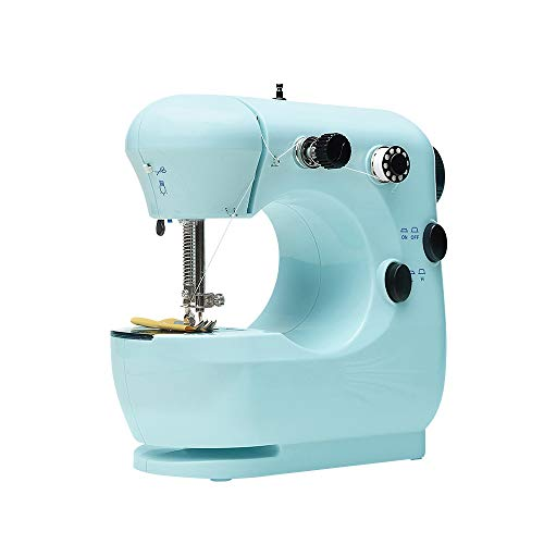 Mini Electric Sewing Machine Portable Household Tailor Beginner Free-Arm Crafting Mending Machine Quick Repairing