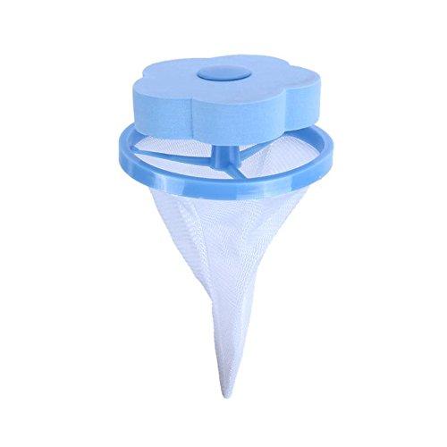 SODIAL Epilateur de machine a laver de produits menagers/sac de filtre de nettoyage de cheveux/sac de blanchisserie/sac de blanchisserie/filet absorbant (Bleu)