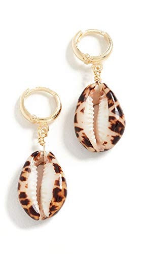 Maison Irem Women's Shelly Terracotta Tiger Earrings, Terracotta Tiger, Tan, Gold, One Size