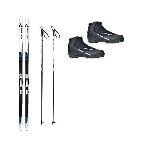 Fischer Langlaufski-Set Comfort Cruiser klassisch + Bindung + Schuhe + Stöcke (L (184 cm Länge - für 80 bis 95 kg))