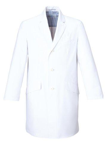 [ミズノ] 医療 医師 白衣 実習衣 MZ0025 メンズ ドクターコート ロング丈 洗練シルエット ミズノ独自のウェア設計[制菌/透防止/制電]ダブルポケット 5サイズS~3L ホワイト 日本 M-(日本サイズM相当)