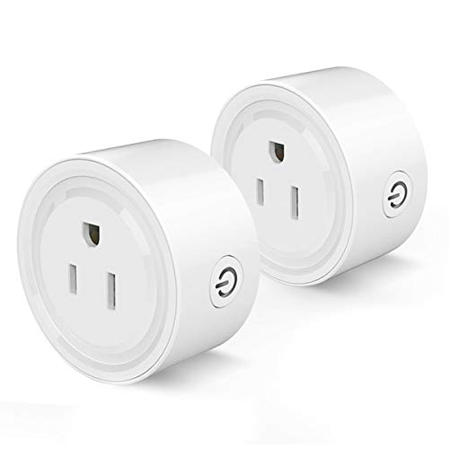 Smart Plug Compatible with Alexa, Smart Life Wifi Smart Socket Compatible with Echo, Google Home, Smart Home Devices, No Hub Required Wifi Mini Smart Plugs Outlet, Remote Control Devices from Anywhere