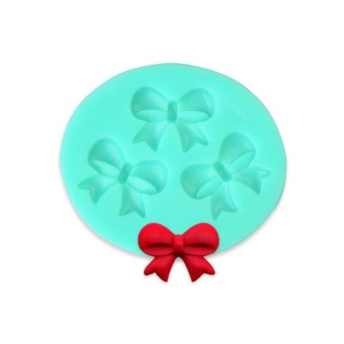 TANGCHU Ideale per torte e pasta di zucchero, in Silicone, a forma di fiocco e 5,08 (2,0') x 5,8 cm, colore: verde