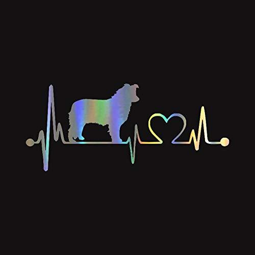 ZQZL Etiqueta engomada de la Etiqueta del Latido del corazón del Perro Accesorios de decoración del rasguño de la Cubierta del Coche 19 * 8,3 CM