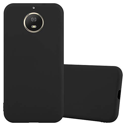 Cadorabo Custodia per Motorola Moto G5 S in CANDY NERO - Morbida Cover Protettiva Sottile di Silicone TPU con Bordo Protezione - Ultra Slim Case Antiurto Gel Back Bumper Guscio