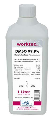 worktec(R) DMSO 99,9%, 1 Liter, Dimethylsulfoxid 1000 ml in HDPE Flasche