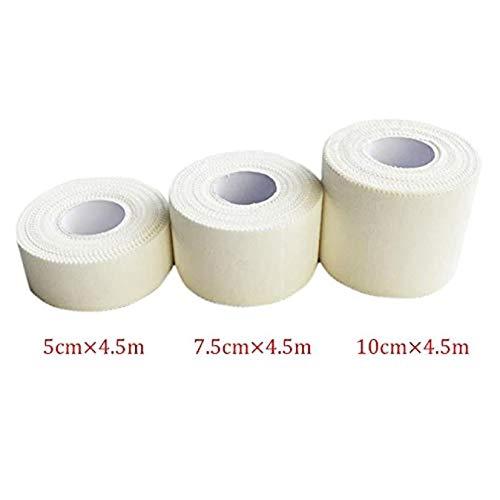 iMiMi Cinta de vendaje, 3 piezas de vendaje elástico fuerte atlético cinta autoadhesiva para apoyo de las articulaciones, cómoda cinta deportiva de rugby para estabilización (10 cm, 5 m), color blanco