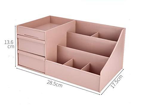 QAZ Cosmetica opbergdoos desktop slaapkamer stofdicht huishoudelijke lade type grote capaciteit Europese prinses kaptafel rack