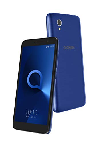 "Alcatel 1 - Smartphone de 5"" (Quad-Core 1.28 MT6739, RAM de 1 GB, memoria de 8 GB, cámara de 5 MP, Android 8.0 GO), azul metálico"