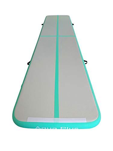 Aqua Plus Inflatable Air Tumble Mat Air Gymnastics Tumbling Mat 4inches Thickness Exercise Training Mat Cheerleading Yoga Beach Board