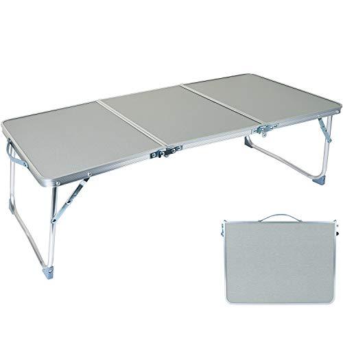 Perpetual テーブル 折りたたみ アウトドア キャップ 三つ折り ローテーブル ミニ 軽量 アルミ 耐熱・耐水...