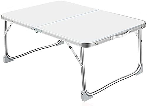 Mesa de picnic al aire libre Mesa de camping Mesa de laptop para computadora portátil con asa de transporte, escritorio plegable portátil para escribir que trabaja comer en sofá / cama / sofá, mesa de