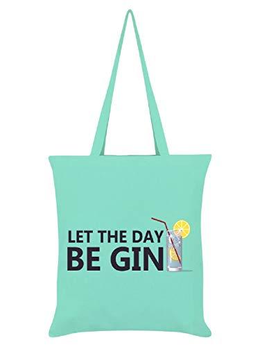 100% Baumwolle Tote, umweltfreundliche wiederverwendbare Tasche für das Leben/Einkaufstasche (Let The Day Be Gin)