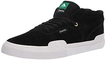 Emerica mens Pillar Mid Top Vulc Skate Shoe Black/White/Gold 7.5 US