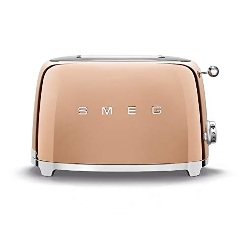 SMEG TSF01RGEU Toaster, 18/8 Edelstahl