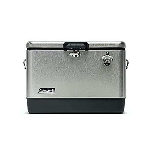Coleman Ice Chest | Reunion 54 Quart Steel Belted Cooler