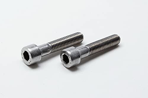 10 tornillos hexagonales DIN 912 de acero inoxidable A2 y A4 (acero inoxidable V2A, M8 x 40 mm)