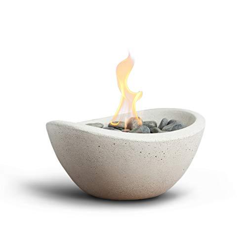 Terra Flame OD-TT-WAV-WHT-03 Wave Table Top Fire Bowl, White