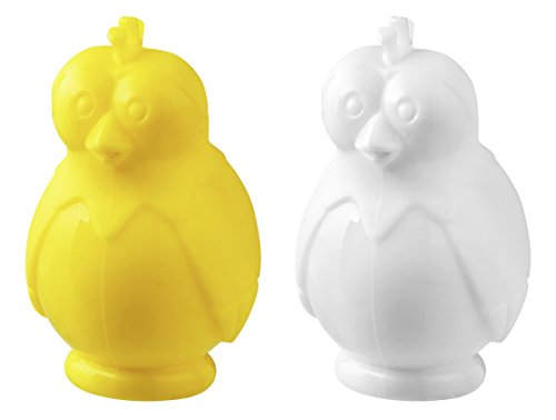 Fackelmann Eitrenner LADY GACKER, Eigelbtrenner aus Silikon, lustiger Eidottertrenner (Farbe: Weiß oder Gelb - nicht frei wählbar), Menge: 1 Stück
