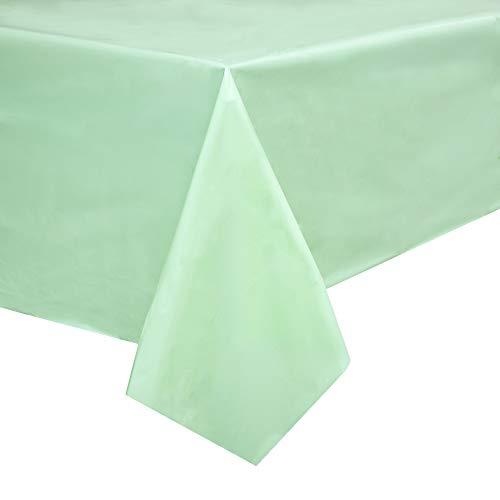 Juvale Party mintgroen plastic doos bedekt tafelkleed (3 stuks)