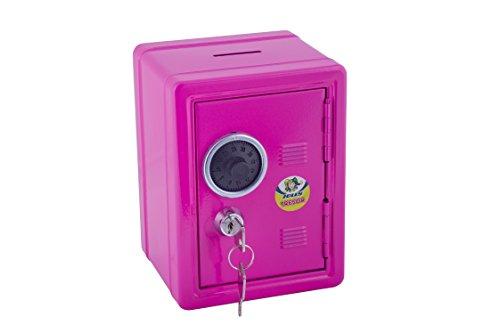 Jolly Tresor | Spardose | mit Schlüssel verschliesbar | Münzeinwurf | pink