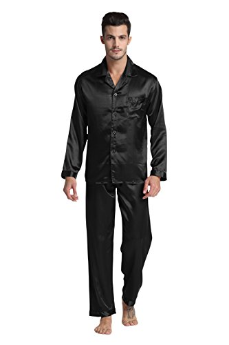 Tony & Candice Men's Classic Satin Pajama Set Sleepwear