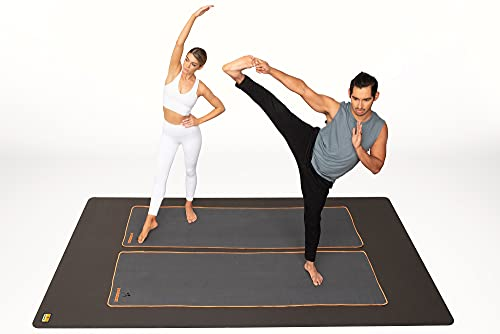 Pogamat Extra Large Workout Mat - 8' x 6' Thick Floor Pad - Perfect Mats for Home Gyms, Cardio, Exercise, Weight Lifting, Fitness, and More - High Density Non-Slip Foam