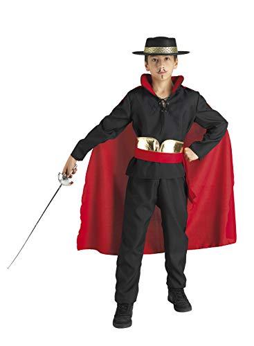 chiber Disfraces Déguisement Enfants Zorro Don Diego (6-8 Ans)
