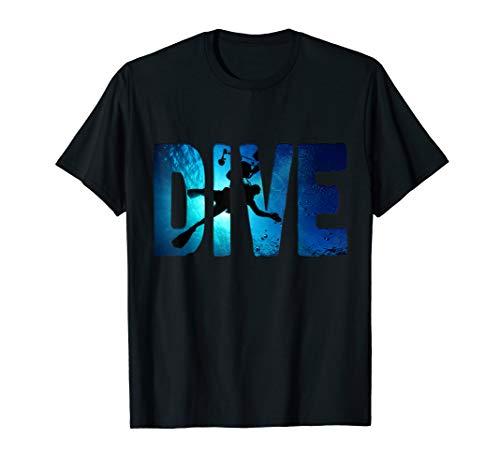 Gerätetauchen Tauchen Taucher Schatten tief Schwim T-Shirt