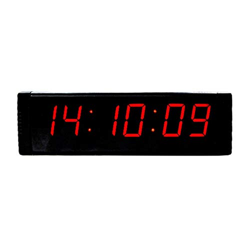 Contador de tiempo Intervalo de temporizador de cuenta atrás hasta Reloj /, 1,5' 6 dígitos LED Gimnasio Cronómetro con control remoto for Home Gym Fitness entrenamientos Negro Reloj abajo / arriba