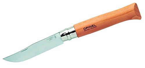 Opinel INOX Erwachsene Messer-Größe 12-rostfrei, Natur, N