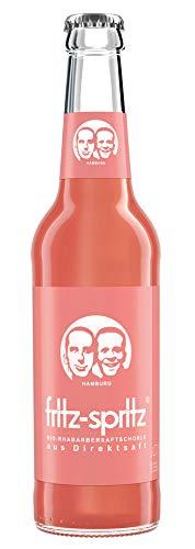 12 Flaschen a 0,33l Fritz Spritz Bio Rhabarbersaftschorle aus Direktsaft 0,80€ Pfand