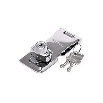 Keyed Hasp Lock – Twist Knob Keyed Locking Hasp for Small Doors, Cabinets and More, 2 inch, Steel, Chrome Plated, Chrome| Metallics (2 inch, Keyed Different)