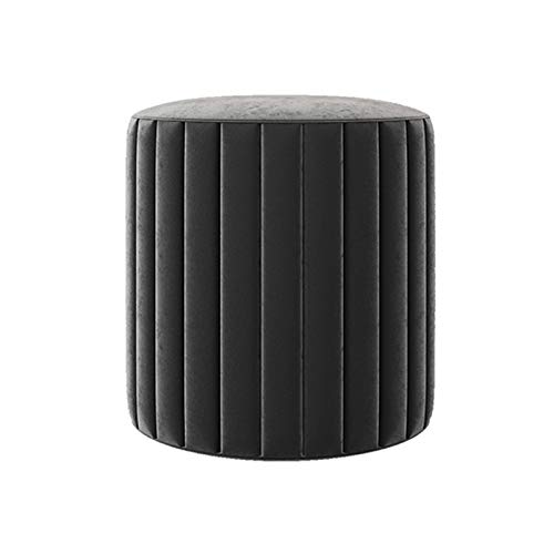 ZTCWS Modern Vanity Stool, Comfortable Makeup Dressing Stool, Solid Wood Frame, Padded Cushioned Bench Piano Seat Chair for Bedroom, Bathroom,Black