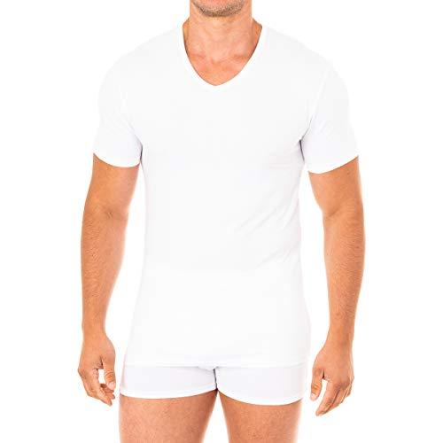 Abanderado Camiseta Sport Manga Corta Suavidad Real algodón Peinado, Blanco (Blanco 001), Medium (Tamaño del Fabricante:M/48) para Hombre