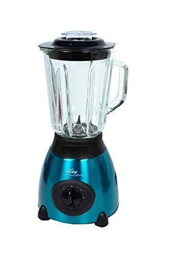 elta MX-600 Edelstahl Mixer 1,5 Liter Glas 500 W in Blau