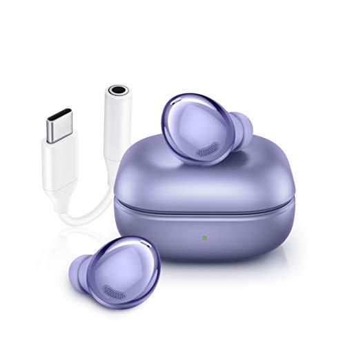 Samsung Galaxy Buds Pro + Adattatore USB-C. Auricolari Wireless, Cancellazione attiva dei rumori, Suono ambientale, IPX7, Carica Wireless, [Versione Italiana], Phantom Violet