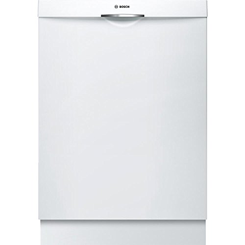 Bosch SHS863WD2N 300 Series Built In Dishwasher with 5 Wash Cycles, 16 Place Settings, 3rd Rack, SpeedPerfect, RackMatic in White