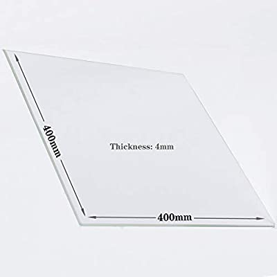 400mm x 400mm x 4mm Borosilicate Glass Build Plate For 3D Printers, Perfectly Flat Glass With Polished Edges