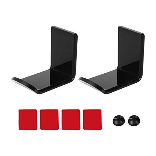 SDFLKAE 2 unids/pack pantalla auriculares soporte acrílico montado en la pared auriculares colgante