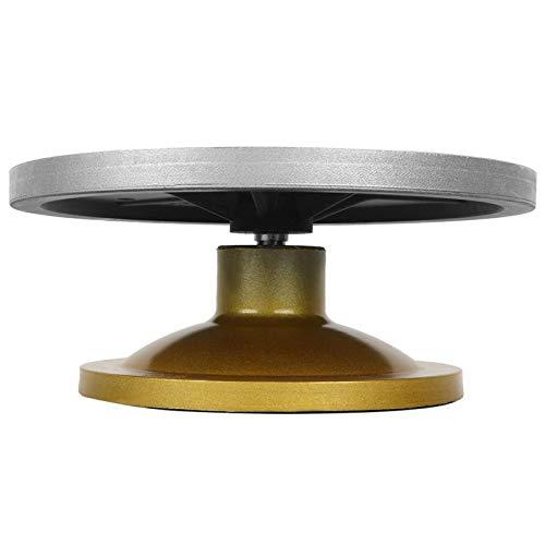 Rueda de cerámica, rueda de arcilla plateada resistente, cerámica ligera antiadherente de metal(Silver plastic steel turntable 33cm)