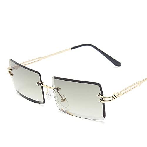 Gafas De Moda Gafas De Sol Gafas De Sol Retro Moda para Mujer Gafas De Sol Gradiente Sin Montura Sombras Vintage C14
