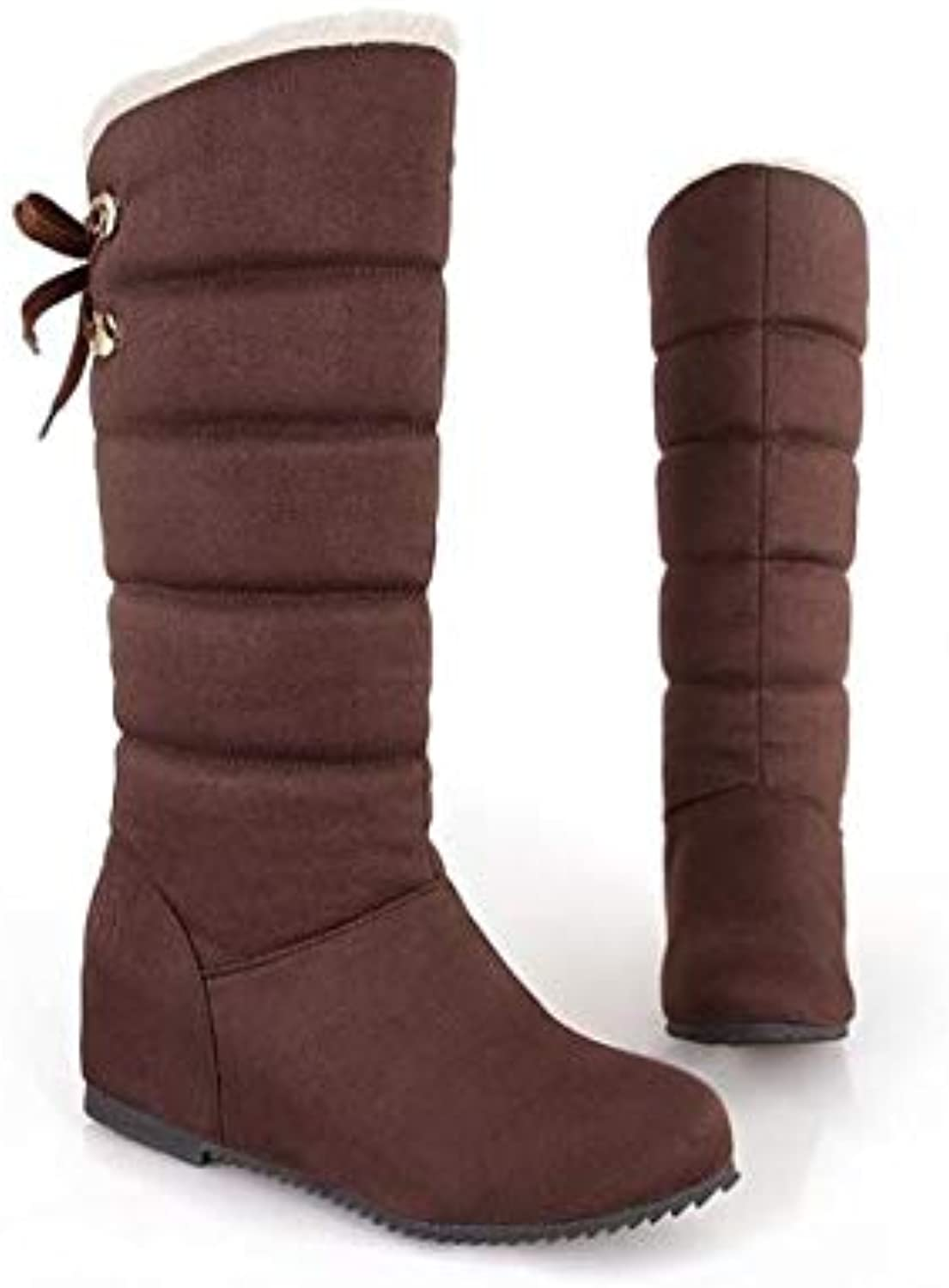 Increased Wedges in The Winter, Casual Warm Snow Boots, high-Lined Lined, Waist, Calf Boots, Women