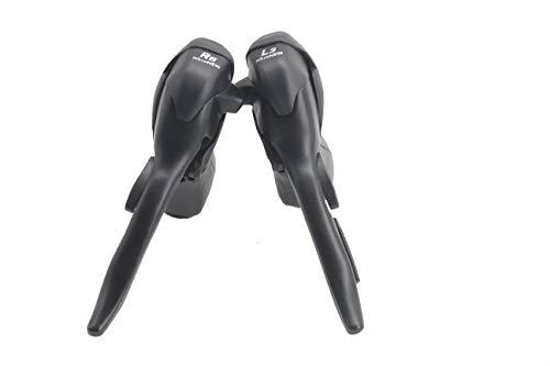 Micronew - Deragliatore a doppio controllo, 3 x 8 velocità, per bicicletta da strada, compatibile con Shimano