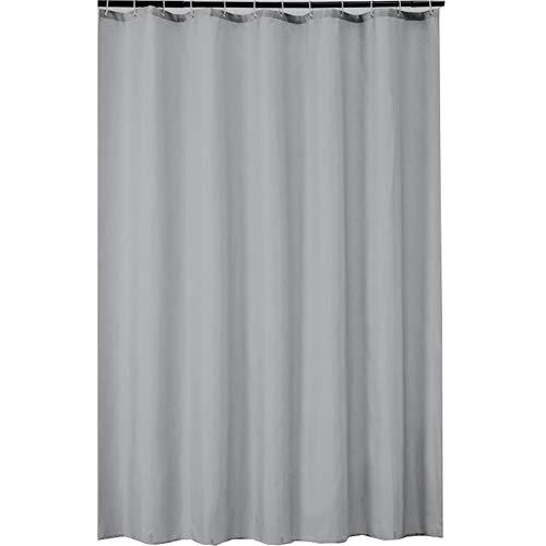 Dragonaur Solid Color Moldproof Waterproof Polyester Stoff Duschvorhang Waschbarer Duschvorhang für Badezimmer Silbergrau